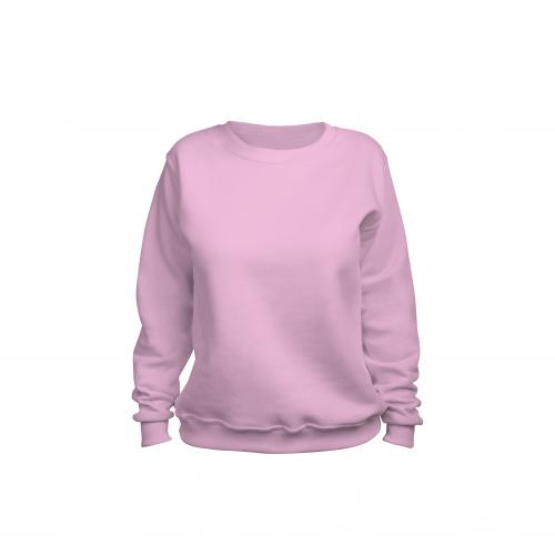 свитшот женский розовый