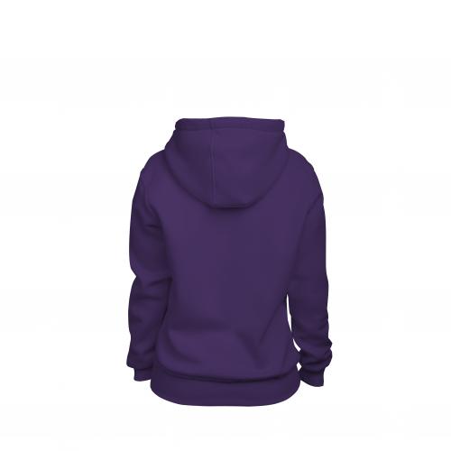 Толстовка на молнии женская фиолетовая