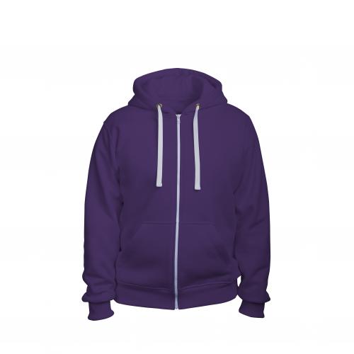 Толстовка на молнии мужская фиолетовый