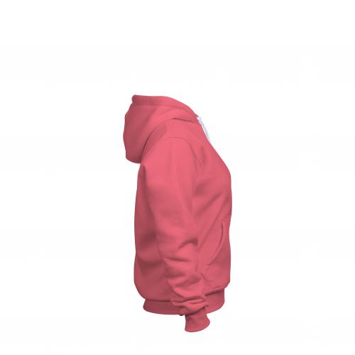 толстовка женская коралловая
