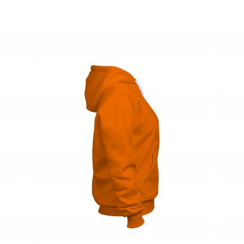 Толстовка на молнии женская оранжевая