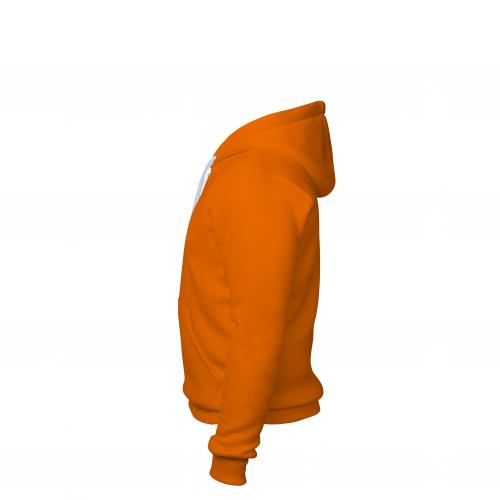 Толстовка на молнии мужская оранжевая