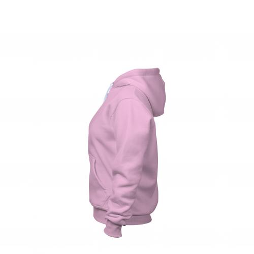 Толстовка на молнии женская розовая