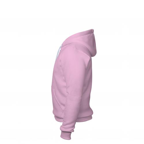 Толстовка на молнии мужская розовая