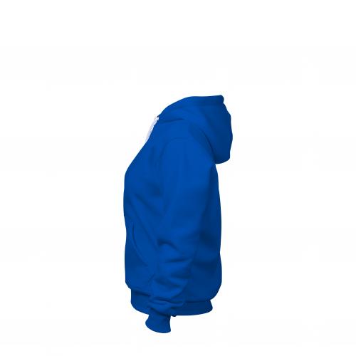 Толстовка на молнии женская синяя