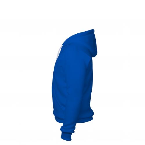 Толстовка на молнии мужская синяя