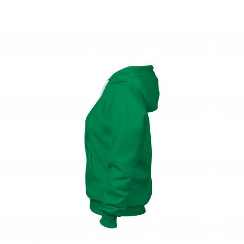 Толстовка на молнии женская зеленая