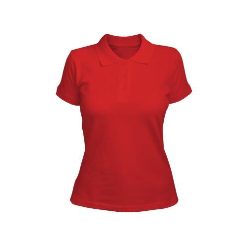 рубашка-поло женская красная