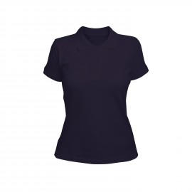 рубашка-поло женская фиолетовая