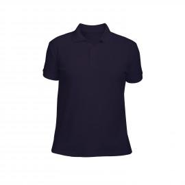 рубашка-поло мужская темно-синяя