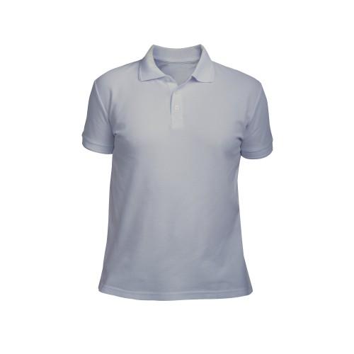 рубашка-поло мужская серая