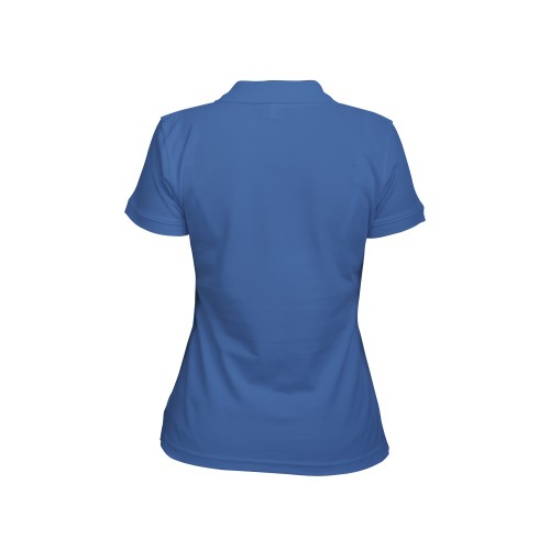 рубашка-поло женская синяя