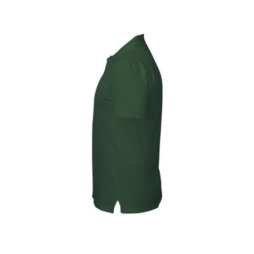 рубашка-поло мужская темно-зеленая