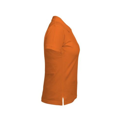 Рубашка-поло женская оранжевая