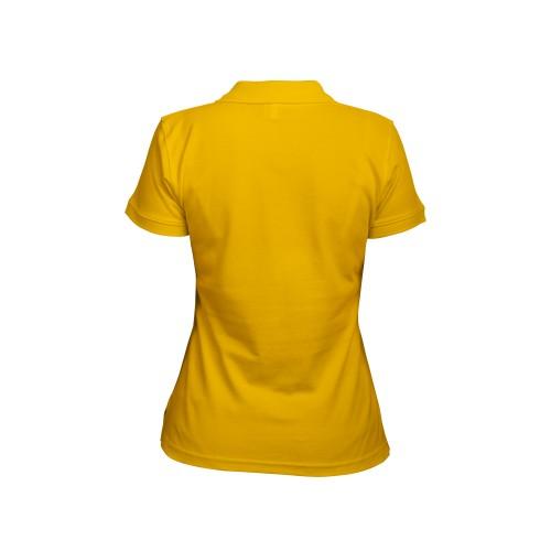 Рубашка-поло женская желтая